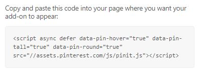 Pinterest Code